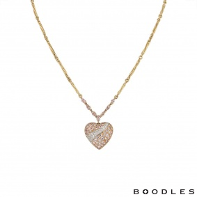 Boodles Yellow & Rose Gold Diamond Set Heart Pendant 2.64ct